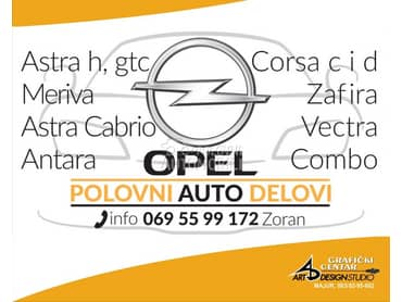 PREDNJI DISKOVI za Opel Zafira od 2004. do 2009. god.